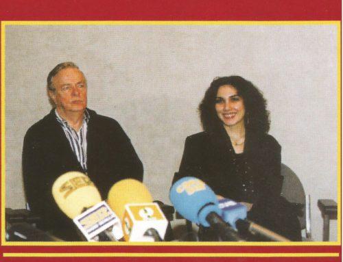 With Franco Zeffireli. Before La Boheme at the La Scala production.